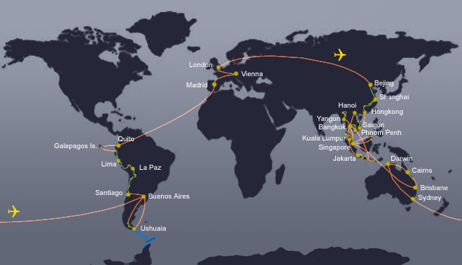Reiseroute / Itinerary